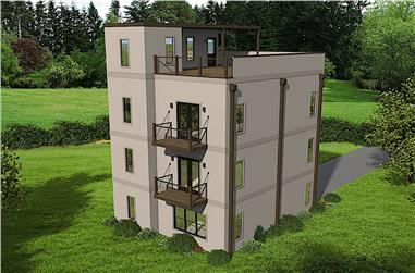 2-Bedroom, 1588 Sq Ft Modern Home Plan - 196-1177 - Main Exterior