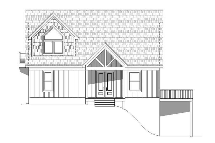 Home Plan Front Elevation of this 3-Bedroom,1736 Sq Ft Plan -196-1179