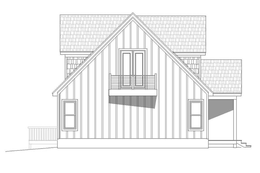 Home Plan Left Elevation of this 3-Bedroom,1736 Sq Ft Plan -196-1179