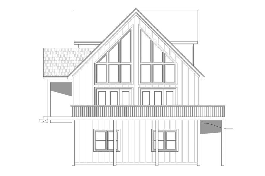Home Plan Right Elevation of this 3-Bedroom,1736 Sq Ft Plan -196-1179