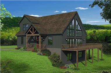 3-Bedroom, 1736 Sq Ft Cottage Home Plan - 196-1179 - Main Exterior