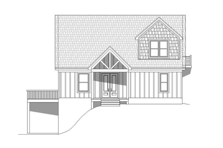 Home Plan Front Elevation of this 3-Bedroom,1736 Sq Ft Plan -196-1180