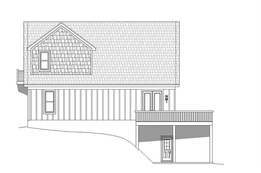 Home Plan Rear Elevation of this 3-Bedroom,1736 Sq Ft Plan -196-1180