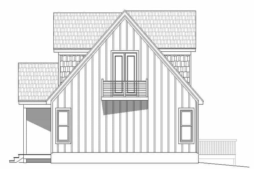 Home Plan Right Elevation of this 3-Bedroom,1736 Sq Ft Plan -196-1180
