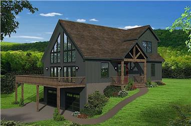 3-Bedroom, 1736 Sq Ft Cottage Home Plan - 196-1180 - Main Exterior