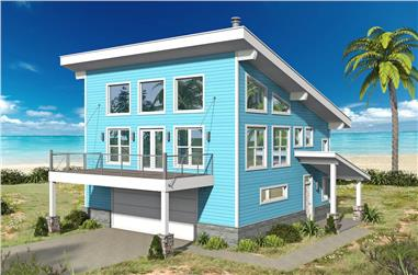 2-Bedroom, 1359 Sq Ft Contemporary Home - Plan #196-1191 - Main Exterior
