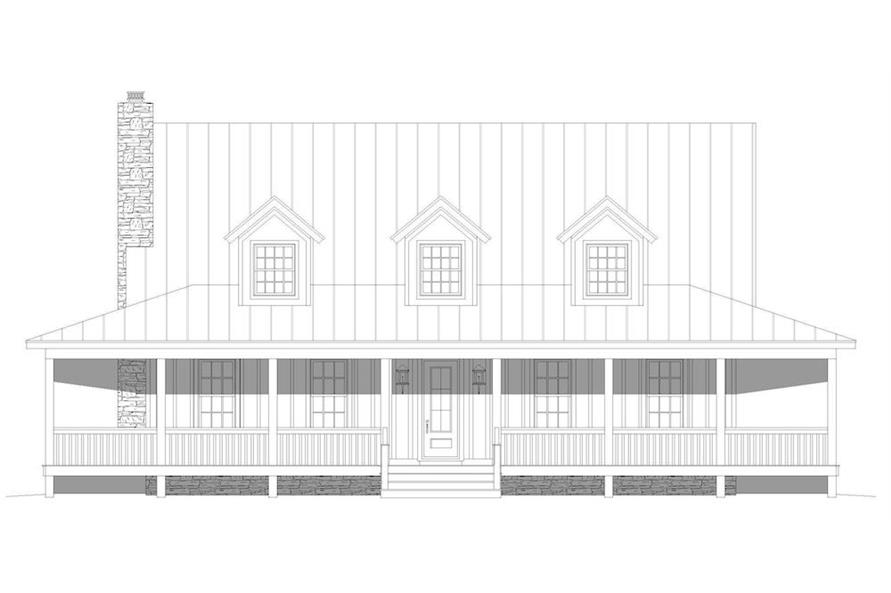 Home Plan Front Elevation of this 3-Bedroom,2662 Sq Ft Plan -196-1195