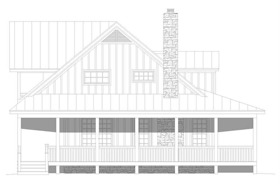 Home Plan Left Elevation of this 3-Bedroom,2662 Sq Ft Plan -196-1195