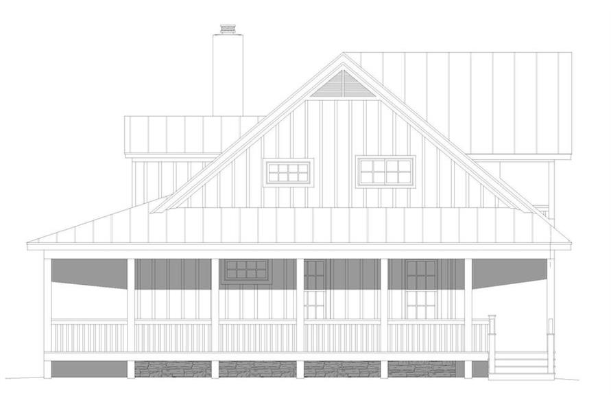 Home Plan Right Elevation of this 3-Bedroom,2662 Sq Ft Plan -196-1195