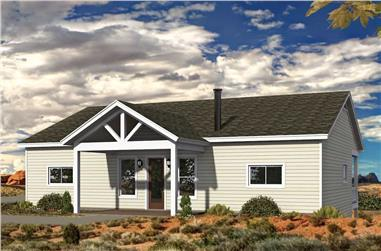 2-Bedroom, 1500 Sq Ft Ranch House Plan - 196-1197 - Front Exterior