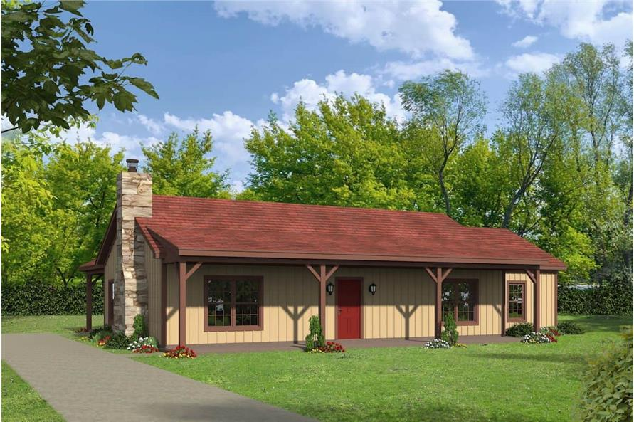 3-Bedroom, 1643 Sq Ft Ranch House - Plan #196-1198 - Front Exterior