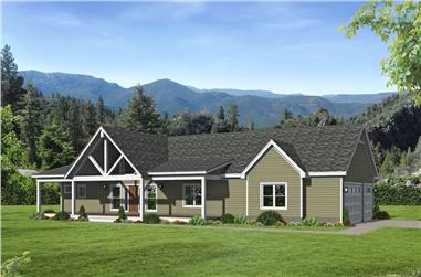 2-Bedroom, 1650 Sq Ft Ranch House - Plan #196-1199 - Front Exterior