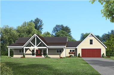 2-Bedroom, 1677 Sq Ft Ranch House - Plan #196-1200 - Front Exterior