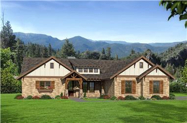 3-Bedroom, 2491 Sq Ft Ranch House - Plan #196-1206 - Front Exterior