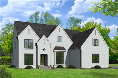 5-Bedroom, 4726 Sq Ft European House - Plan #196-1207 - Front Exterior