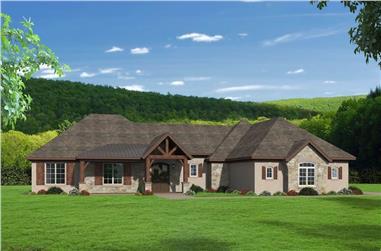 3-Bedroom, 3609 Sq Ft Rustic Ranch Home - Plan #196-1208 - Main Exterior