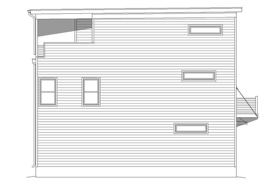 Home Plan Left Elevation of this 3-Bedroom,2030 Sq Ft Plan -196-1218