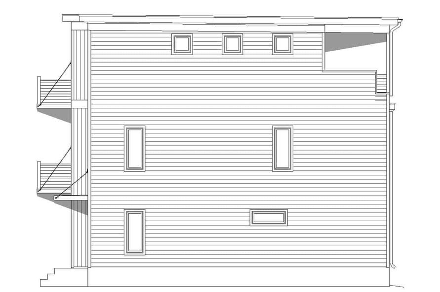 Home Plan Right Elevation of this 3-Bedroom,2030 Sq Ft Plan -196-1218
