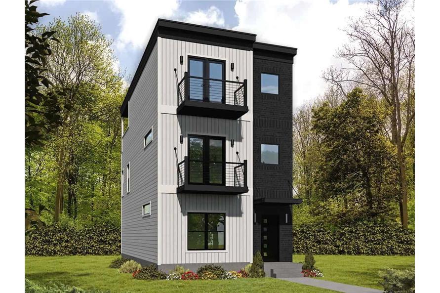 3-Bedroom, 2030 Sq Ft Modern Home - Plan #196-1218 - Main Exterior