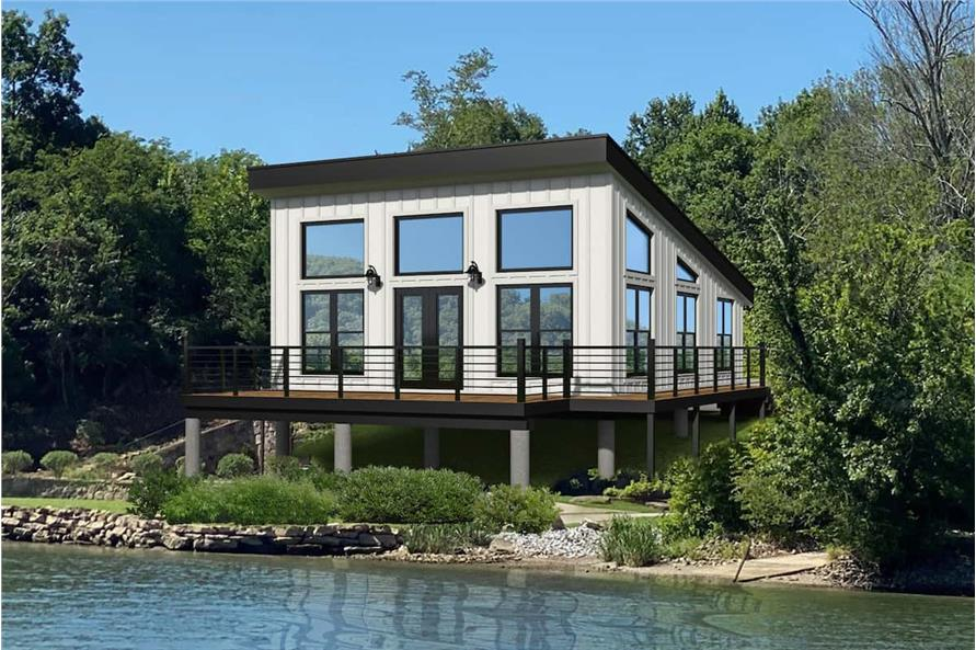 1-Bedroom, 750 Sq Ft Contemporary Home - Plan #196-1219 - Main Exterior