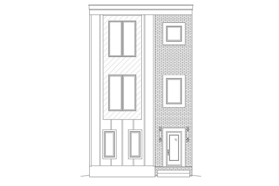 Home Plan Front Elevation of this 3-Bedroom,2129 Sq Ft Plan -196-1220