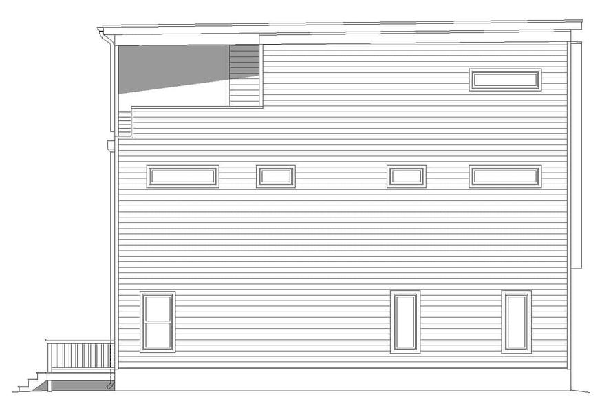 Home Plan Left Elevation of this 3-Bedroom,2129 Sq Ft Plan -196-1220