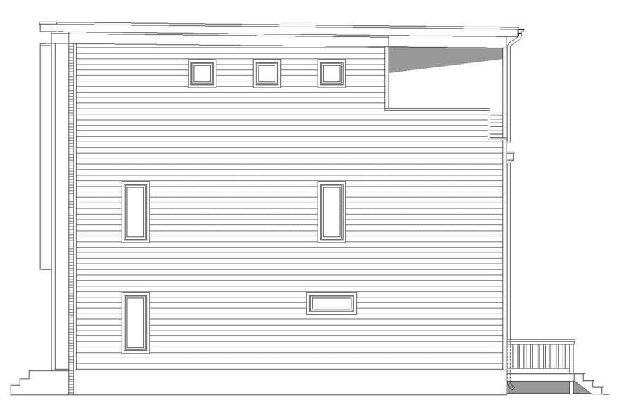 Home Plan Right Elevation of this 3-Bedroom,2129 Sq Ft Plan -196-1220