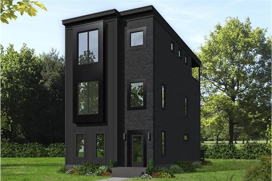 3-Bedroom, 2129 Sq Ft Modern House - Plan #196-1220 - Front Exterior