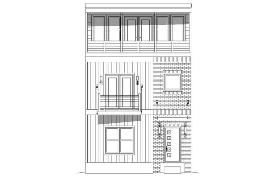 Home Plan Front Elevation of this 3-Bedroom,2200 Sq Ft Plan -196-1221