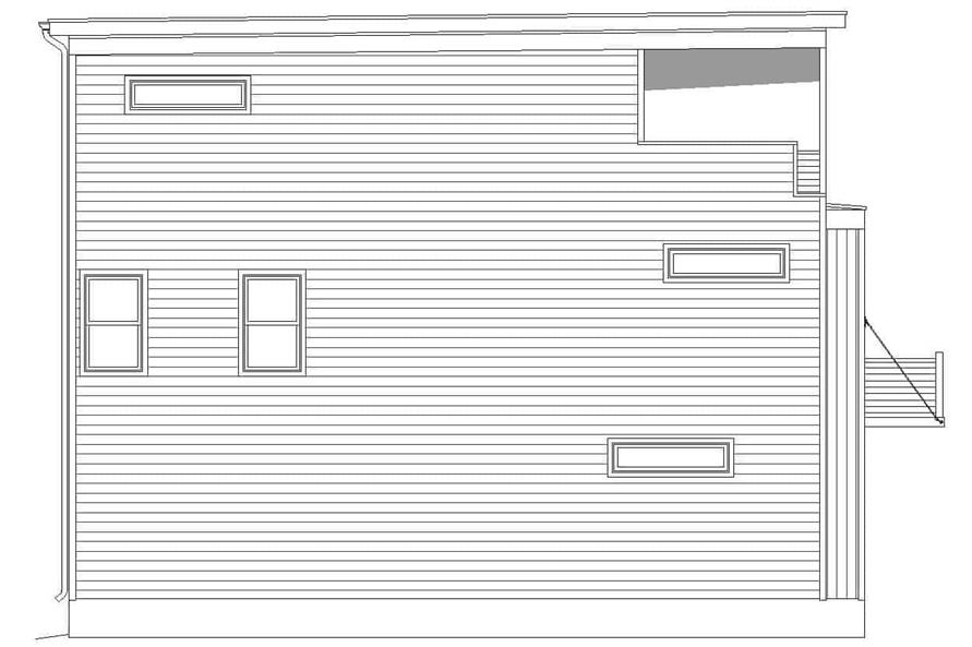 Home Plan Left Elevation of this 3-Bedroom,2200 Sq Ft Plan -196-1221