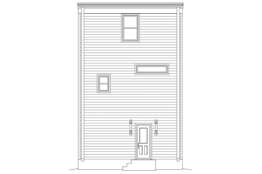 Home Plan Rear Elevation of this 3-Bedroom,2200 Sq Ft Plan -196-1221