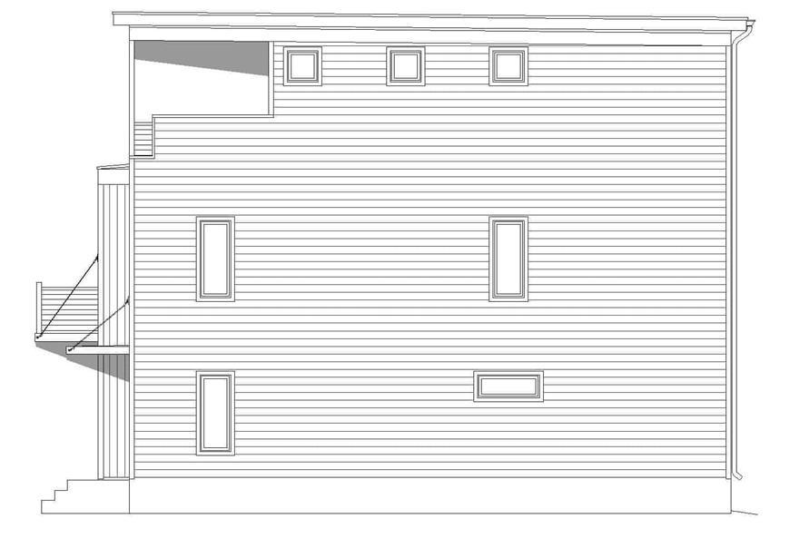 Home Plan Right Elevation of this 3-Bedroom,2200 Sq Ft Plan -196-1221