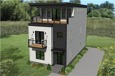 3-Bedroom, 2200 Sq Ft Modern Home -Plan #196-1221 - Main Exterior
