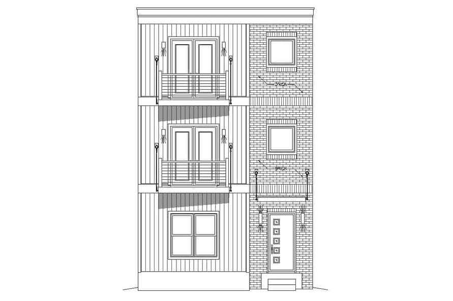 Home Plan Front Elevation of this 3-Bedroom,2215 Sq Ft Plan -196-1222