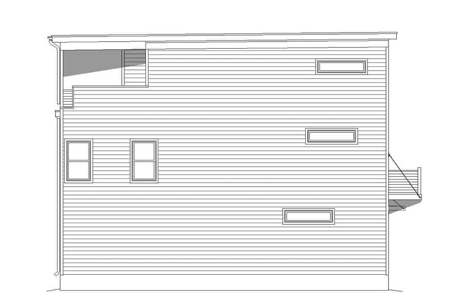 Home Plan Left Elevation of this 3-Bedroom,2215 Sq Ft Plan -196-1222