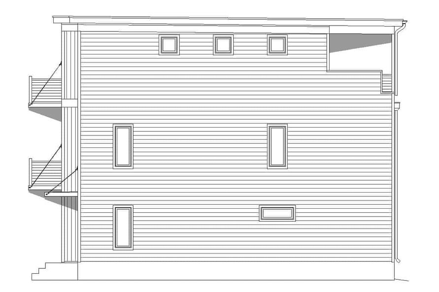 Home Plan Rear Elevation of this 3-Bedroom,2215 Sq Ft Plan -196-1222