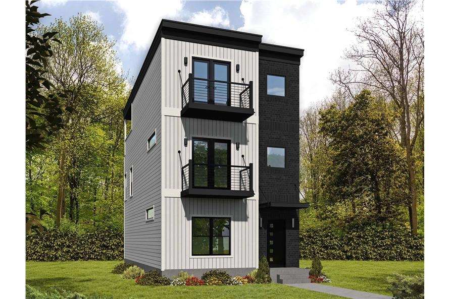 3-Bedroom, 2215 Sq Ft Modern Home - Plan #196-1222 - Main Exterior