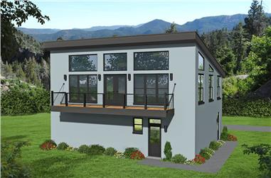 1-Bedroom, 1200 Sq Ft Contemporary House - Plan #196-1224 - Front Exterior