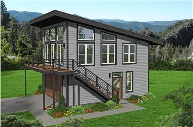2-Bedroom, 878 Sq Ft Contemporary Home - Plan #196-1226 - Main Exterior