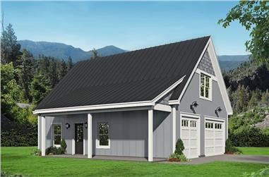 1-Bedroom, 1132 Sq Ft Farmhouse Home Plan - 196-1227 - Main Exterior