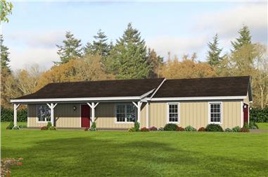 2-Bedroom, 1000 Sq Ft Ranch Home - Plan #196-1230 - Main Exterior
