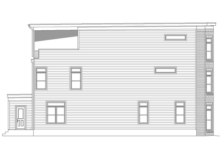 Home Plan Left Elevation of this 3-Bedroom,2843 Sq Ft Plan -196-1232