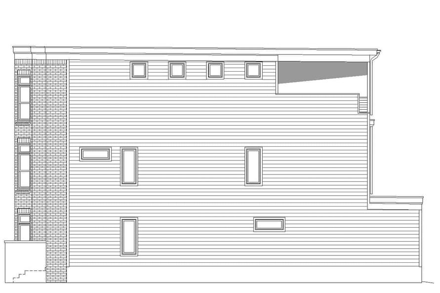 Home Plan Right Elevation of this 3-Bedroom,2843 Sq Ft Plan -196-1232