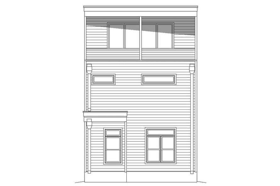 Home Plan Rear Elevation of this 3-Bedroom,2843 Sq Ft Plan -196-1232