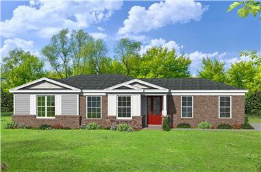 1-Bedroom, 1194 Sq Ft Ranch House - Plan #196-1233 - Front Exterior