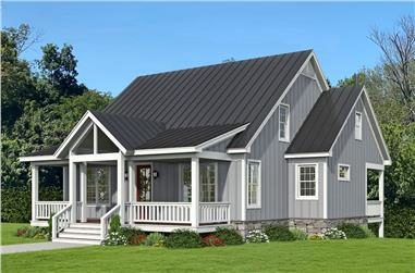 3-Bedroom, 2015 Sq Ft Farmhouse Home Plan - 196-1234 - Main Exterior