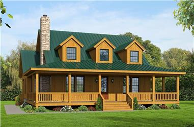 3-Bedroom, 2271 Sq Ft Farmhouse Home Plan - 196-1235 - Main Exterior