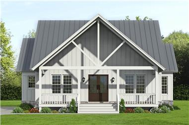 3-Bedroom, 2100 Sq Ft Farmhouse Home Plan - 196-1237 - Main Exterior
