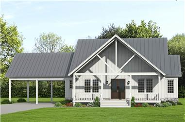 3-Bedroom, 2450 Sq Ft Farmhouse House Plan - 196-1238 - Front Exterior