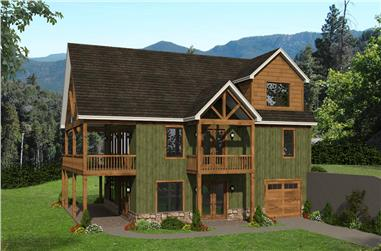 4-Bedroom, 2537 Sq Ft Rustic Home - Plan #196-1239 - Main Exterior